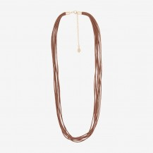Cotton Brown 10 Lines Necklace