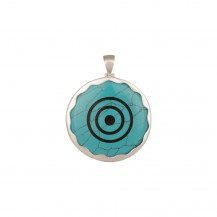 Concentration - Howlite Turquoise Sterling Silver Pendant