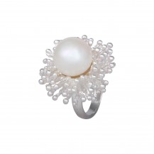 Sunlit Pearl - Sterling Silver Ring