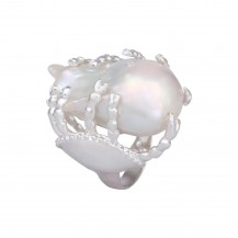 Colossal Pearl - Cocktail Sterling Silver Ring