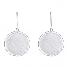 Weave Disc - Sterling Silver Drops