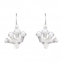 Tuberose Flower -  Sterling Silver Drops