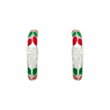 Lal Pari - Sterling Silver Enamel Stud Earrings