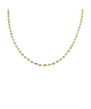 Jhalmal - Peridot Beaded Sterling Silver Necklace