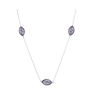 Kamya Khushi Sterling Silver Meenakari Necklace