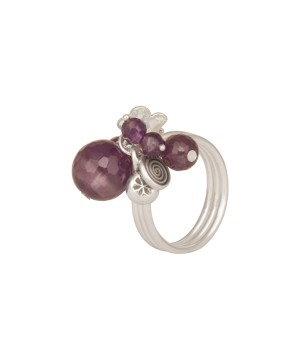 Quirky - Sterling Silver Amethyst Ring