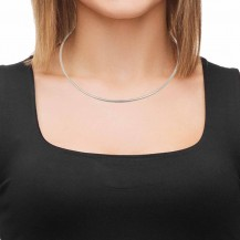 Shiny Sterling Silver Choker Necklace