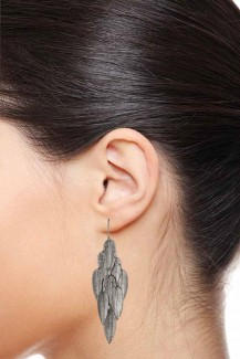 Bevy of Leaf - Silver Leaf Dangle Earrings