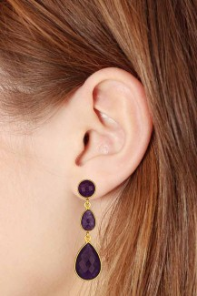 Rhythm - Amethyst Vermeil Drop Earrings